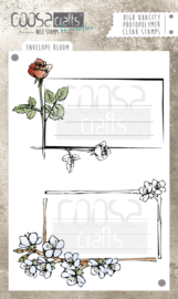 COOSA Crafts clear stamps #4 - Envelope Bloom A6 - 2pcs