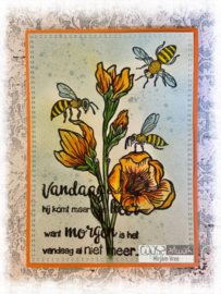 COOSA Crafts Clear Stamps #22 - Postal Flowers 3