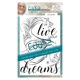 COOSA Crafts clear stamp #03 - Birds - Live your Dreams A6