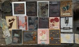 Voorbeelden met de nieuwe embossingfolders en nieuwe kleuren gilding wax (03-04-20)