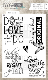 COOSA Crafts clear stamp #02 - Quote - Mini's  A6 - 5 pcs