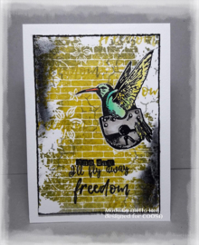 COOSA Crafts clear stamp #09 - Fusion - Freedom (EN) A7