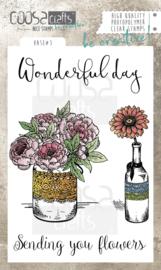 COOSA Crafts clear stamp #07 - Vase 3 A6