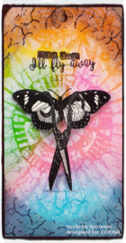 COOSA Crafts clear stamp #09 - Fusion - Fly Away (EN) A7