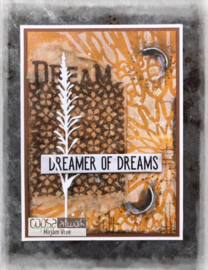 COOSA Crafts clear stamp #15 -  Word on background - Dream A7