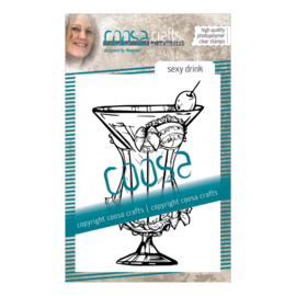COOSA Crafts clear stamp #10 - Fusion - Sexy Drink A7