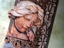 7gypsies Architextures Treasures Adhesive Embellishments - Weathered Lady Statue 4""