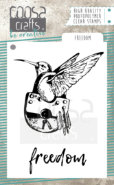 COOSA Crafts clear stamps #9 - Freedom (EN) A7