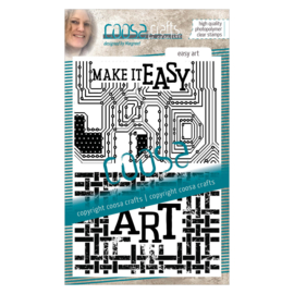 COOSA Crafts clear stamp #14 -  Word on background - Easy Art A6