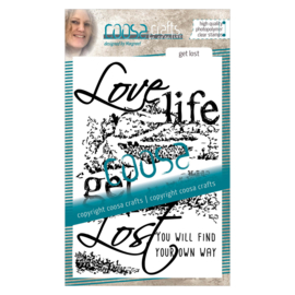 COOSA Crafts clear stamp #02 - Quote  - Get Lost A6