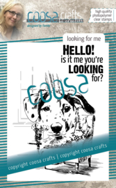 COOSA Crafts Clear Stamps #18 - Looking for me A7 by Famke