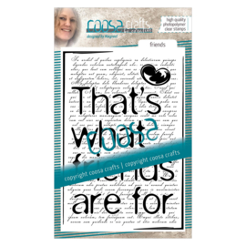 COOSA Crafts clear stamp #05 - Quote - Friends (EN) A6