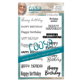 COOSA Crafts clear stamp #12 - Birthday Wishes A6