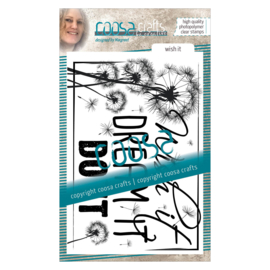 COOSA Crafts clear stamp #05 - Quote - Wish It (EN) A6