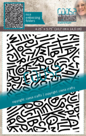 COOSA Crafts Embossing Folder - Spagletti