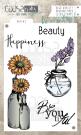 COOSA Crafts clear stamp #07 - Vase 2 A6