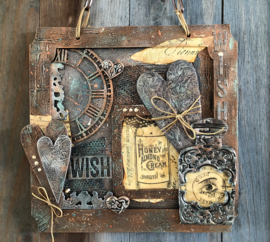 Mixed Media using gilding wax