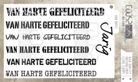 COOSA Crafts clear stamp #06 - Mooi voor Mannen - Van harte multi (NL) A6 - 7pcs