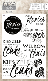 COOSA Crafts clear stamp #01 - Dutch - Leuks A6 - 8-delig (NL)