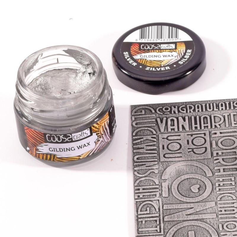 COOSA Crafts Gilding Wax 20ml - Metal Silver