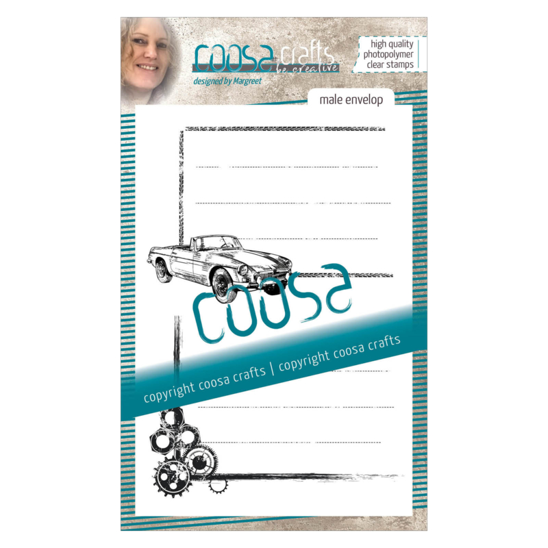 COOSA Crafts clear stamp #06 - Mooi voor Mannen - Envelope A6