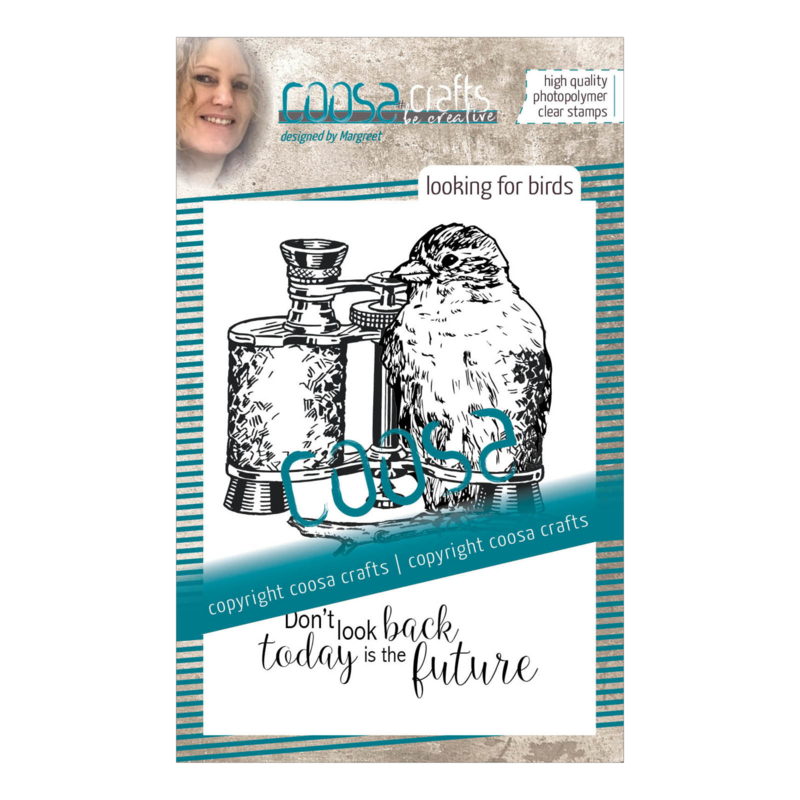 COOSA Crafts clear stamp #08 - Fusion - Looking for Birds A7