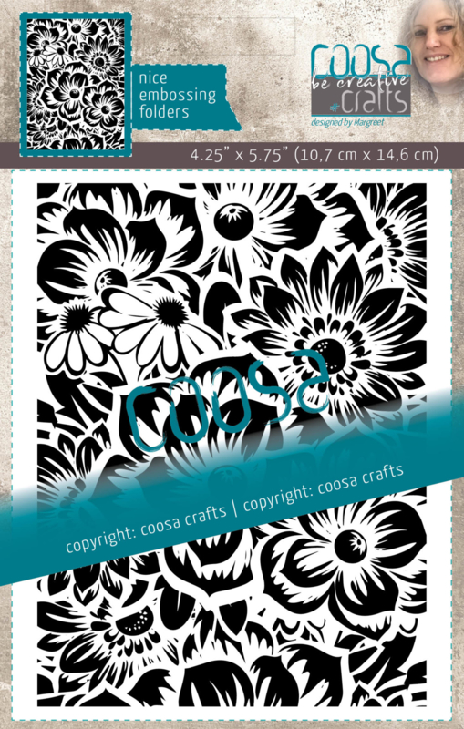 COOSA Crafts Embossing Folder - Bloom by Margreet