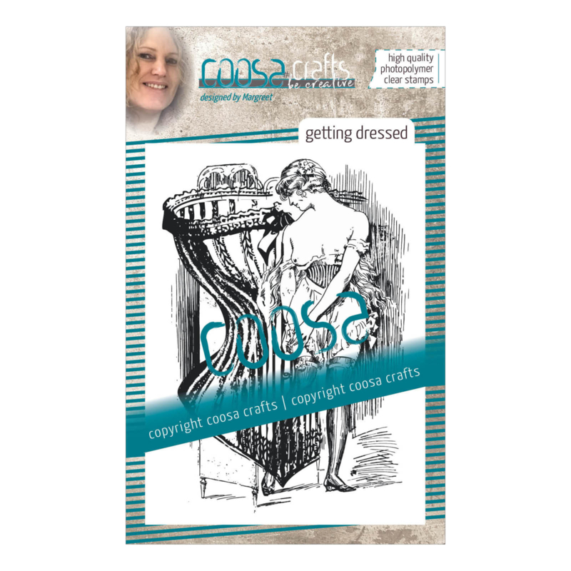 COOSA Crafts clear stamp #10 - Fusion - Getting Dressed A7