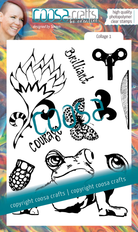COOSA Crafts Clear Stamps #19 - Junk Journal Collage 1 by Soraya