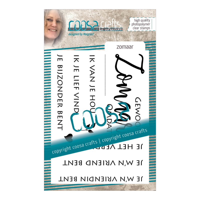 COOSA Crafts clear stamp #01 - Dutch - Zomaar A7 - 9-delig (NL)