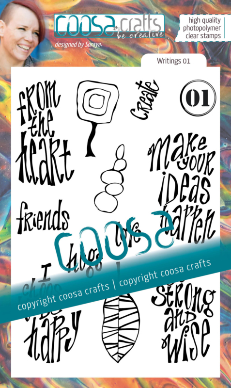 COOSA Crafts Clear Stamps #19 - Junk Journal Writings 01 by Soraya