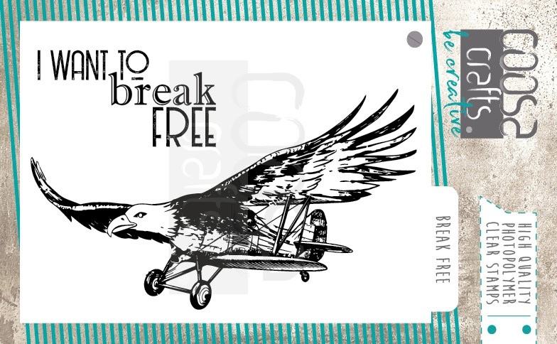 COOSA Crafts clear stamp #11 - Fusion - Mooi voor Mannen - Break Free A7