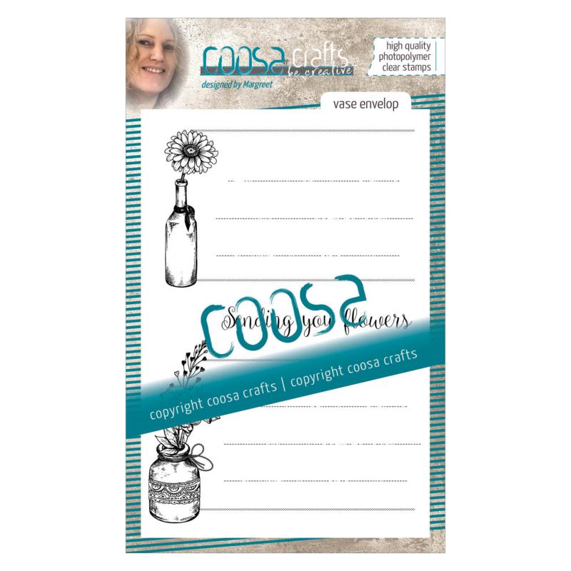 COOSA Crafts clear stamp #07 - Vase Envelope A6