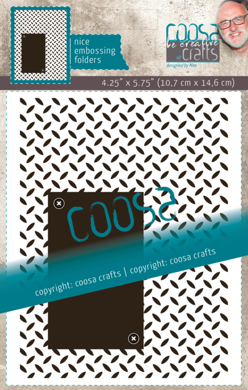 COOSA Crafts Embossing Folder - Iron Plate by Max
