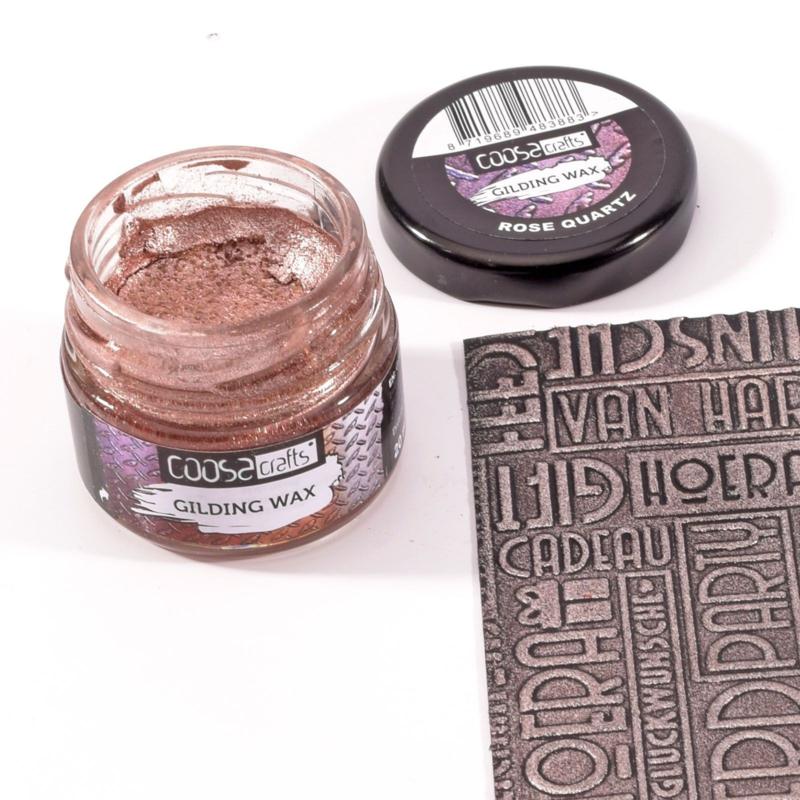 COOSA Crafts Gilding Wax 20ml - Jewels - Rose Quartz