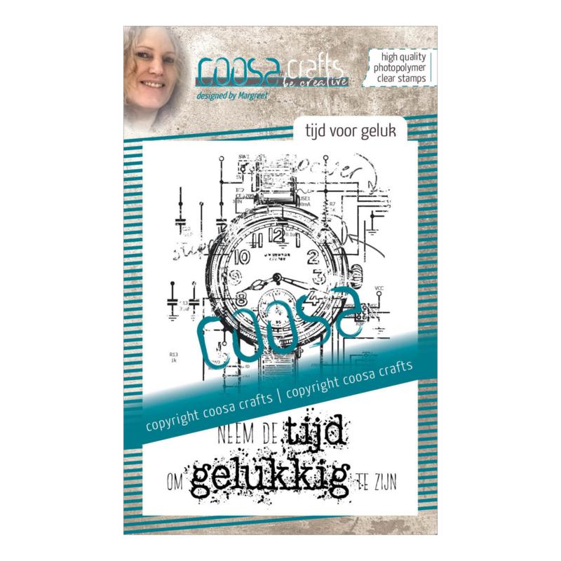 COOSA Crafts clear stamp #08 - Dutch - Tijd voor geluk (NE) A7