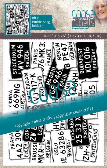 COOSA Crafts Embossing Folder - License
