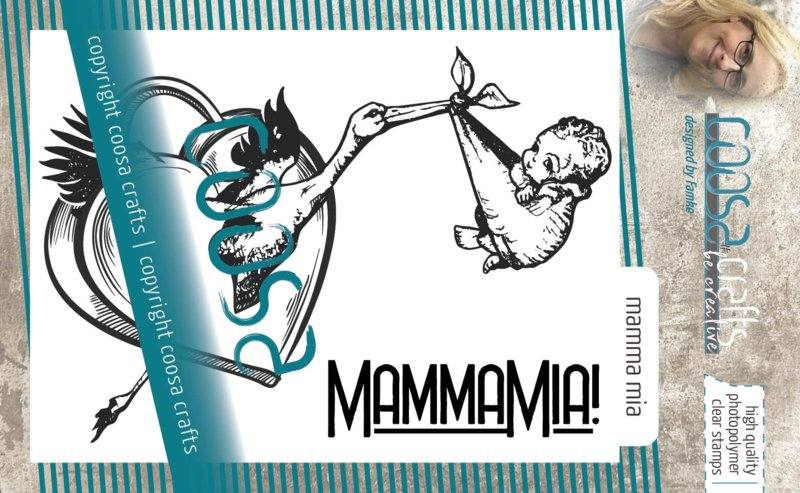 COOSA Crafts Clear Stamps #18 - MammaMia A7 by Famke