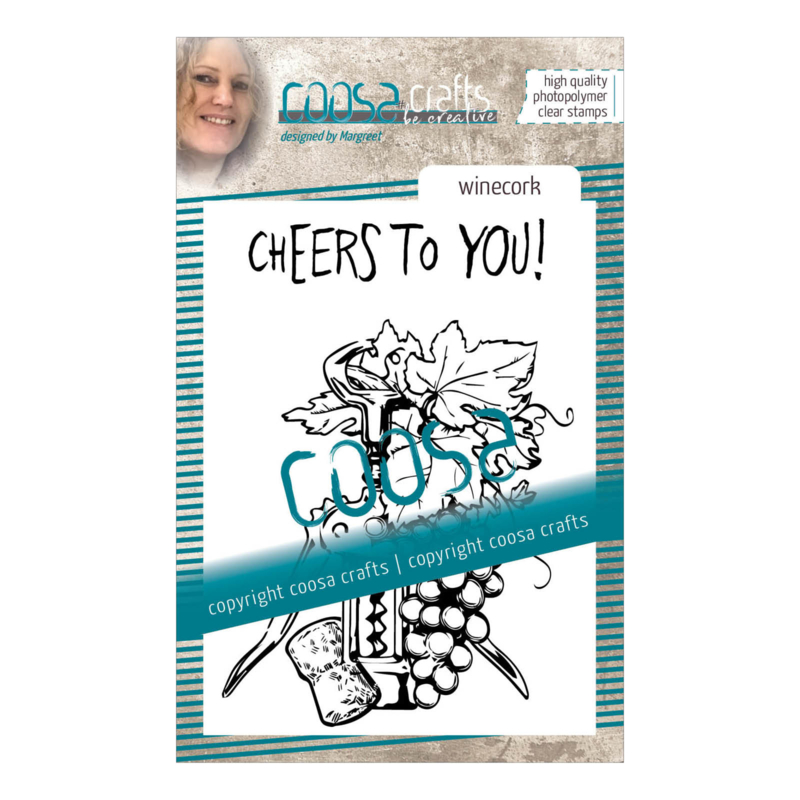 COOSA Crafts clear stamp #09 - Fusion - Wine Cork (EN) A7