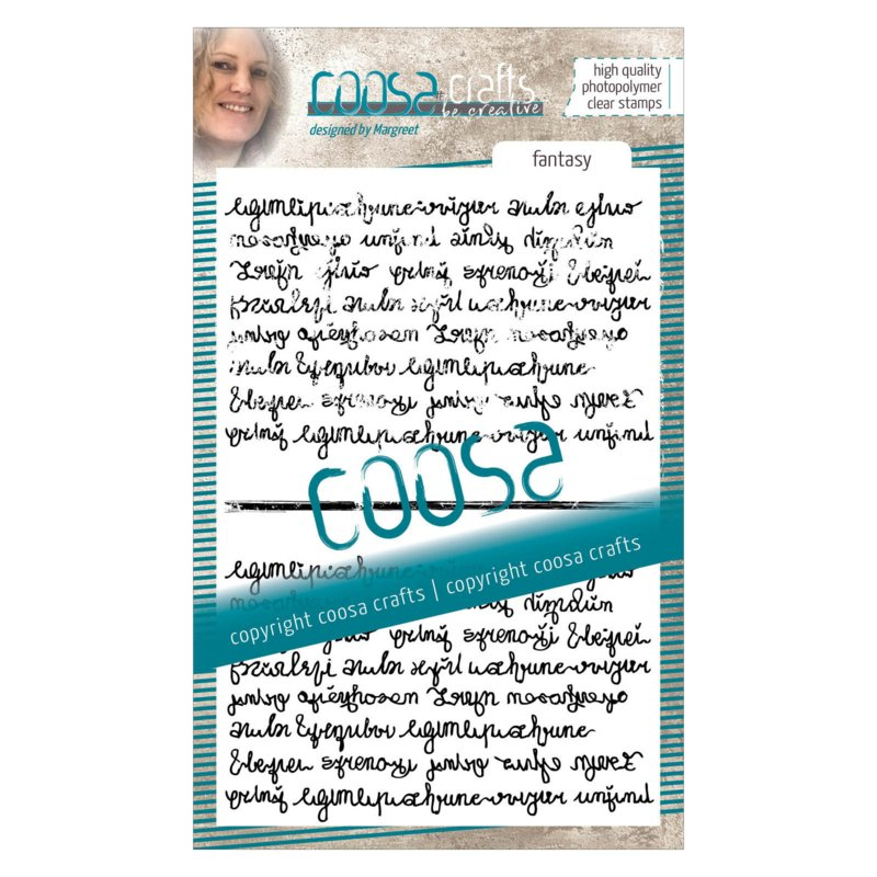 COOSA Crafts clear stamp #05 - Fantasy Script Duo A6
