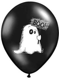Boo! Spookje - Halloween -  / Kat / Vleermuizen - Latex Ballon - 12 Inch/30 cm - 5 st.