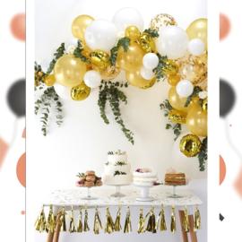 DIY: Gouden Ballonnen Boog / Slinger Set - Goud/Wit Latex ballonnen - 70 st.