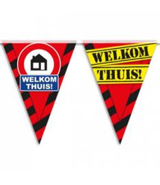 Welkom Thuis!- Verkeersbord  - Vlaggenlijn - 10 m