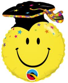 Geslaagd / Afgestudeerd  - Smiley - Geslaagd Hoedje - Folie Ballon- 14 Inch-35cm