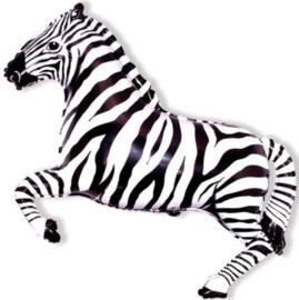 Zebra - Zwart /Wit Folie Ballon   Maat:32 Inch/81cm