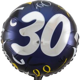 30- Zilver / Goud folie ballon - 18 Inch/45cm