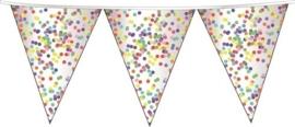 Confetti - Vlaggenlijn - Slinger- div. Kleuren - 6 m.