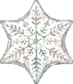 Sneeuw kristal  - Zilver Holographic - 22Inch / 56 cm