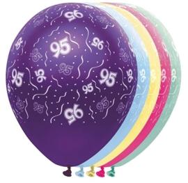 95 - Nummer - div. kleuren - latex ballon - 11Inch / 27,5 cm