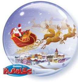 Bubbles - Kerst man met arreslee - 2 kanten - 22 Inch/ 56cm